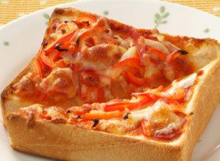 بيتزا التوست بالخضار