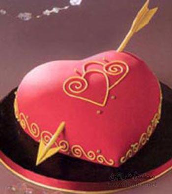 كعكة عيد الحب