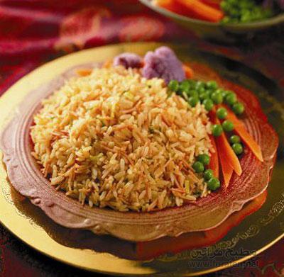 الأرز الأصفر بالفلفل