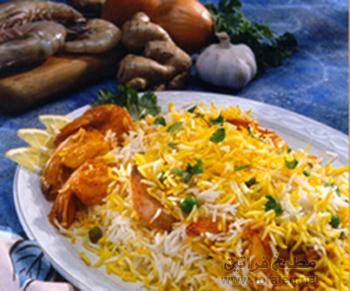 الطبق الهندي برياني الروبيان
