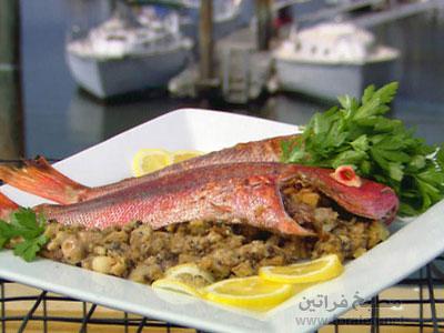 صينية السمك بالخضار والمشروم