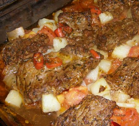 طبق لحم البقر