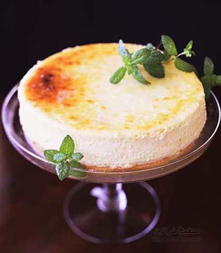 كعكة الجبن بالليمون