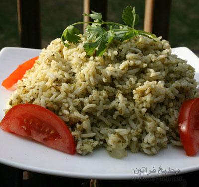 الأرز بالكزبرة