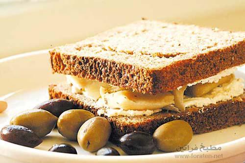 شطائر الجبنة مع البصل