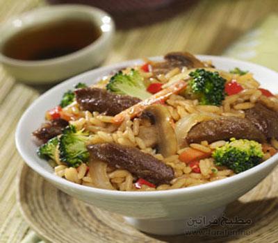 الأرز باللحم