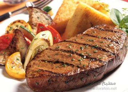 ستيك اللحم بالفلفل الحار