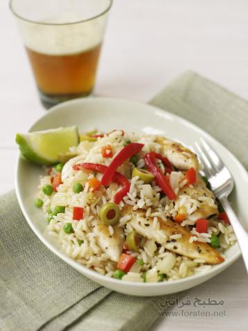 الأرز مع الدجاج