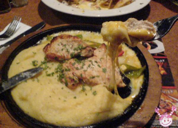 دجاج بالحامض والثوم مع البطاطا المهروسة