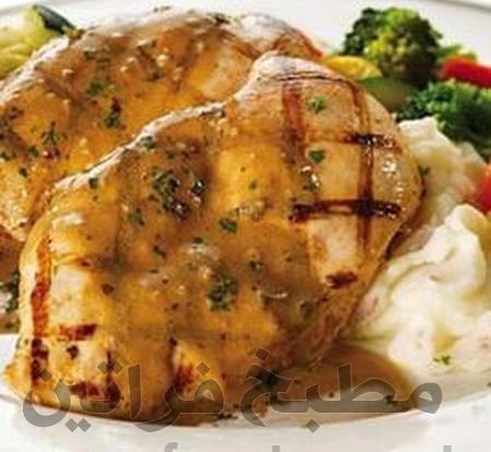 دجاج بالثوم والنعناع