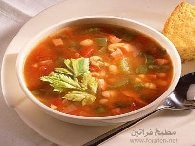 حساء الفاصوليا والفلفل المكسيكي
