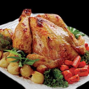 روستو الدجاج بالبطاطس المشوية