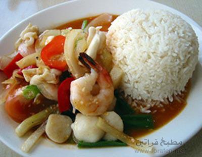الأرز الايطالي بالمأكولات البحرية