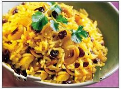 الأرز بالفطر و القرنبيط
