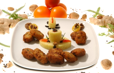 كرات البطاطس والدجاج