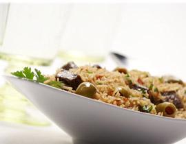 الأرز باللحم و الزيتون