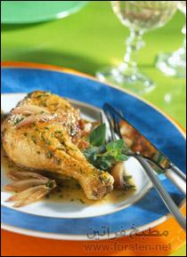 دجاج بالخردل والخضار