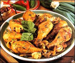 روستو أفخاذ الدجاج بالكاتشاب