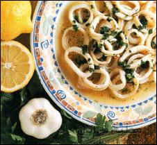 حساء الكالاماري والفطر