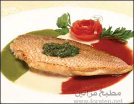 السمك الفيليه المحمر بالتوابل