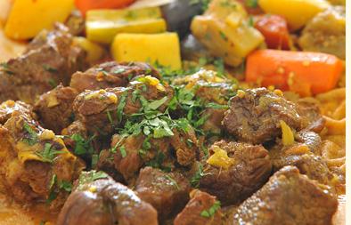 لحم هندي بالزنجبيل و الثوم