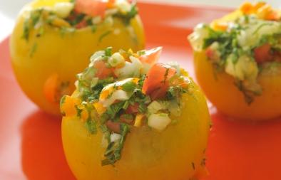 طماطم صفراء بحشو الحرنكش