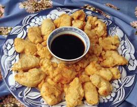 من المطبخ الياباني -دجاج تامبورا