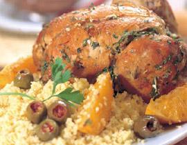 الدجاج مع الزيتون الأخضر (طبق مغربي)